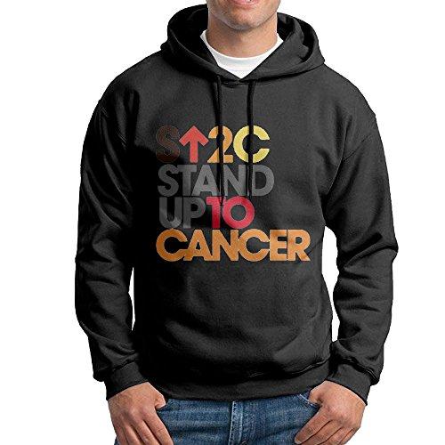 Cancer B-Boy Cool Hoodie Hooded Sweatshirt L Black (Cancer Kids Hoodie)