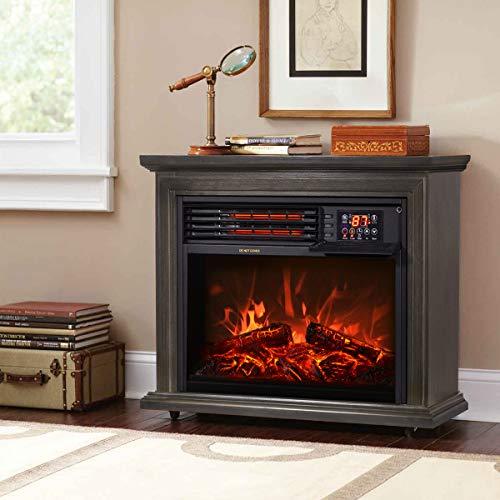 XtremepowerUS Infrared Quartz Electric Fireplace