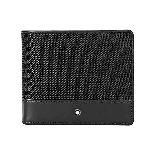 MONTBLANC Nightflight Bi-Folding Nylon/Leather Wallet 113148
