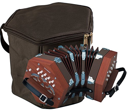 Hohner D40 20-Key Concertina Bundle with Hohner CONG Concertina Gig Bag by HOHNER
