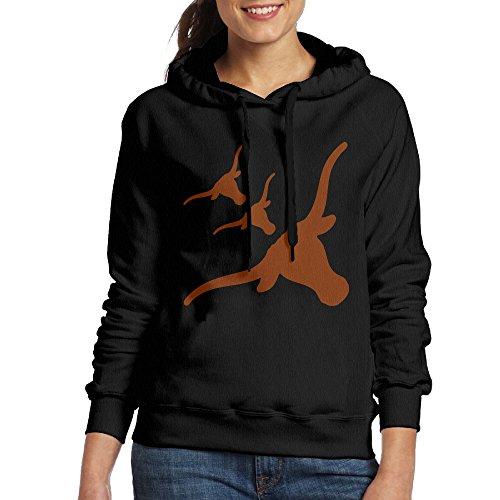 FUOCGH Women's Pullover Texas Longhorns College Hoodie Sweatshirts Black - Australia Gucci