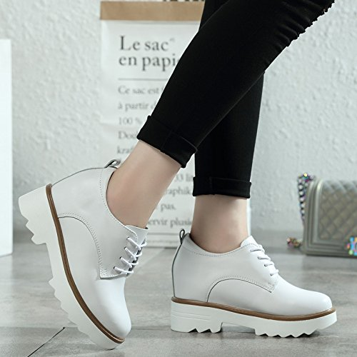 Sponge Shoes Forty Leather White Women'S The Shoes Autumn And And In Winter Shoes Leather Shoes KPHY Shoes Women'S qTawxPZq6