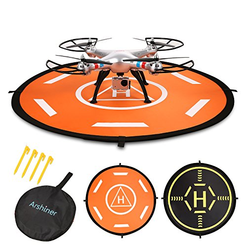 RC Quadcopter Drone Landing Pad,Arshiner 31.9 inch Universal Waterproof Fast-fold RC Helicopter Aircraft Landing Pads for Drones-DJI Phantom 2/3/4,DJI spark,DJI Inspire 1/2,Syma X5C,3DR Solo and More