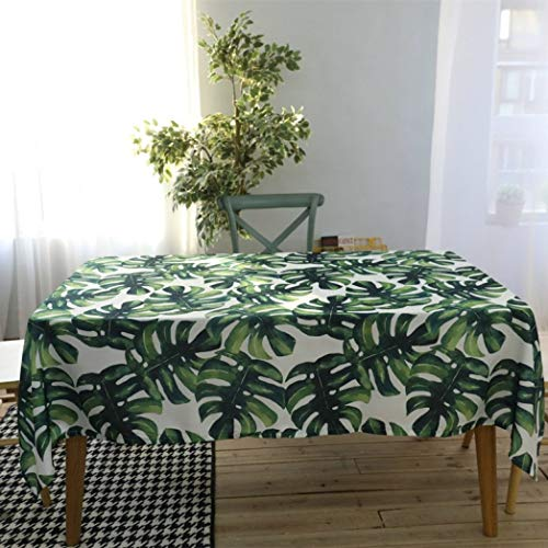 RXIN Tropical Exotic Forest Palm Tree Leaves Watercolor Design Outdoor Picnic Table Cloth, 55 X 70 Inch (3f Watercolor)