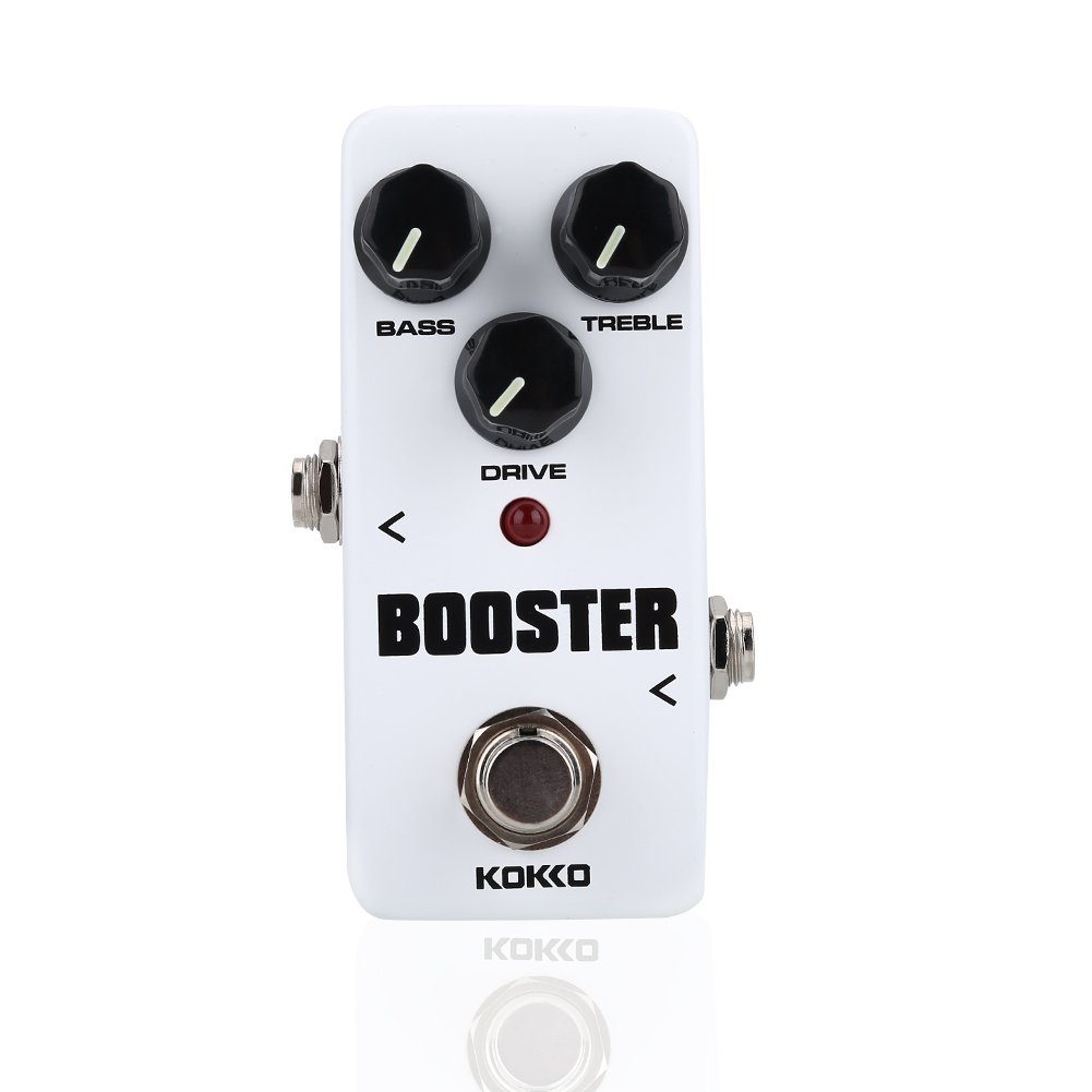 FBS2 Mini Booster Pedal, 2-Band EQ Control Guitar Pedal