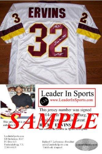 Ricky Ervins Autographed Jersey - Washington Redskins