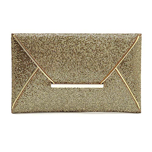 Clutches Packet Coffee UxradG Wedding Prom Ladies Colors Handbag Purse Party Bag Gold Sequin 3 Glitter for Evening Messenger Women rwxqzSwTnE