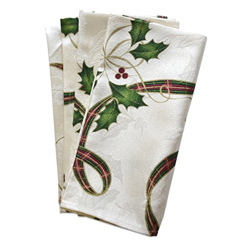 Lenox Holiday Nouveau Ribbon Napkins (Set of 4) (Lenox Napkin Ring)