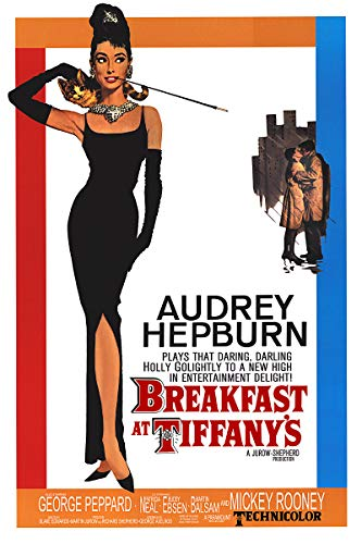 American Gift Services - Classic Breakfast at Tiffany's Audrey Hepburn Vintage Movie Poster - 24x36 (Breakfast Tiffanys Movie Poster)