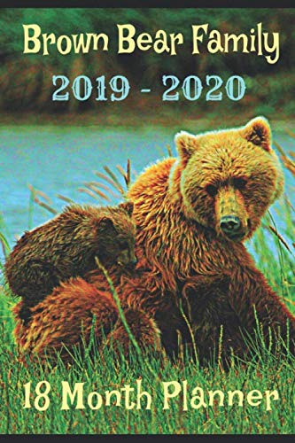 Brown Bear Family 2019 - 2020 18 Month Planner: July 2019 - December 2020 Weekly Planner 18 Month with Goals Dreams to Track your Process to Success