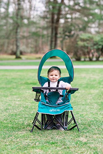 51wVpq8rOTL - Baby Delight Go With Me Chair | Indoor/Outdoor Chair with Sun Canopy | Teal | Portable Chair converts to 3 child growth stages: Sitting, Standing and Big Kid | 3 Months to 75 lbs | Weather Resistant