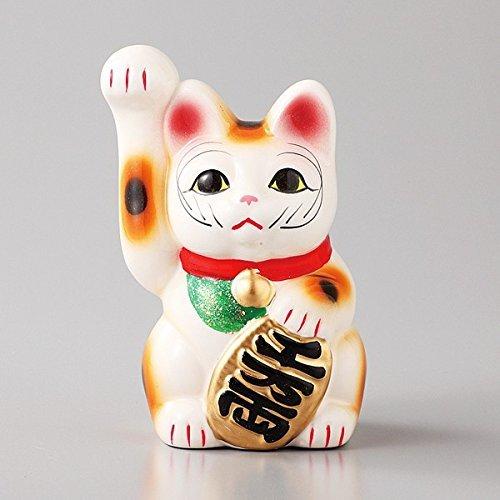 招き猫 貯金箱 白 小サイズ 磁器 瀬戸焼