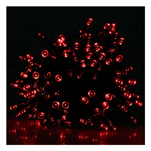 IMAGE® Solar 100 LED Fairy String Light For Xmas Party Garden Wedding Decoration - Red