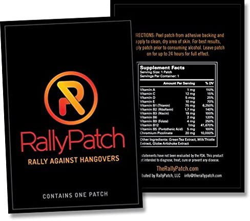 RallyPatch Natural Against Hangovers Latex Free