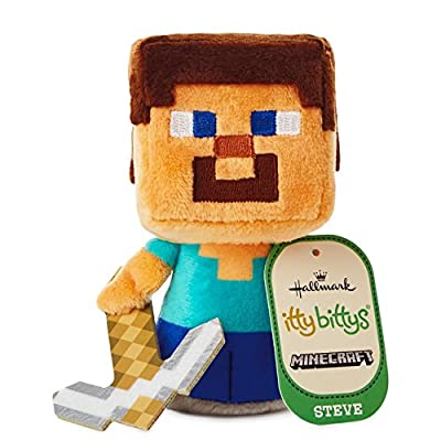 itty bittys Minecraft Steve Stuffed Animal Itty Bittys Hobbies & Interests from Hallmark