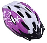 Ammaco GIRLS YOUNG LADIES BICYCLE HELMET VERY STYLISH 14 VENT PURPLE & WHITE 54-59cm 50% OFF RRP £29.99