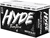 ProSupps HYDE POWER POTION Energy Drink, 350 mg Caffeine, Zero Sugar, Zero Carbs, Carbonated 16 oz, 15-count Box (Winter Blast Flavor)