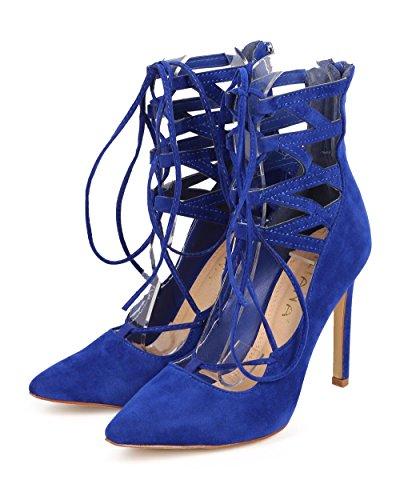 Liliana Selina-6 Femmes Robe À Lacets Pompes Bleu