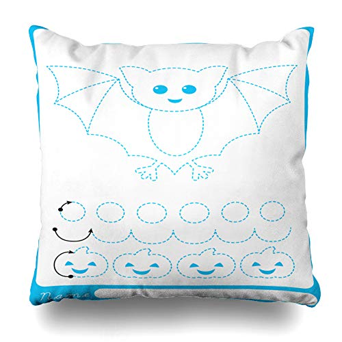 Pakaku Decorativepillows Case Throw Pillows Covers for Couch/Bed 18 x 18 inch, Animal Cartoon Child Halloween Holiday Home Sofa Cushion Cover Pillowcase Gift Bed Car Living Home -