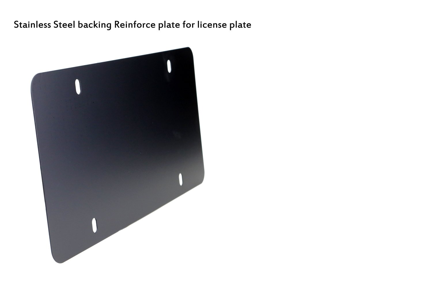 12x6, Black LFPartS Stainless Steel backing Reinforce plate for license plate