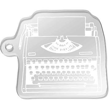 Azeeda Máquina de Escribir Llavero Grande (AK00048741)