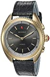 MICHELE Women's Hybrid Smartwatch Stainless Steel Quartz Watch with Leather-Ostrich Strap, Blue, 17.8 (Model: MWWT32A00013)