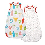 Grobag Wash & Wear Twin Pack Spotty Bear 2.5 Tog (6-18 Months)