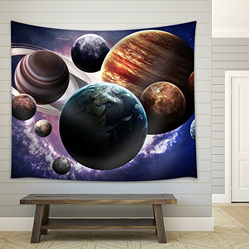 High Resolution Images Presents Planets of the Solar System Fabric Wall