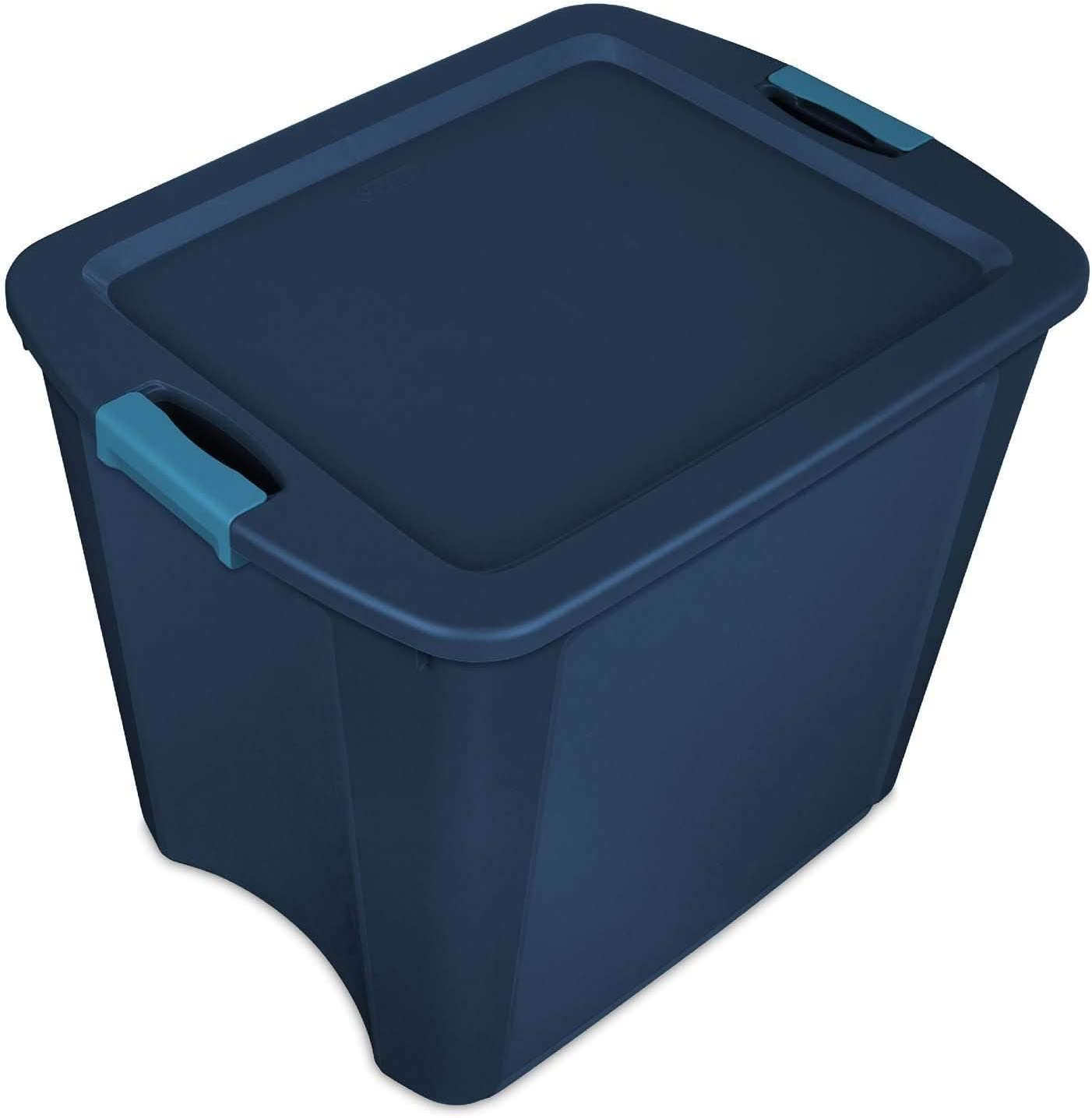Sterilite 26 Gallon Latch and Carry Storage Tote, True Blue | 14487404