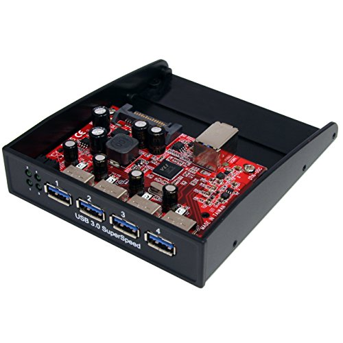 StarTech.com USB 3.0 Front Panel 4 Port Hub - 3.5in or 5.25in Bay - Front Internal 3.5 USB 3 Hub (35BAYUSB3S4)