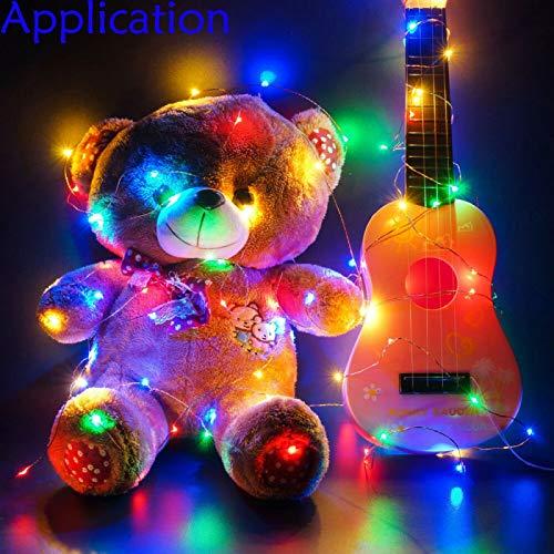 Fairy Lights 16.4ft RGB LED Twinkle Lights USB Plug String Lights for Bedroom Indoor Party Decor