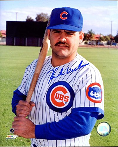Hector Villanueva Autographed /Original Signed 8x10 Color Photo Showing Him w/ the Chicago Cubs - He Was a Star in the Puerto Rico Baseball League - Louis Cardinals Original 8x10 Photo