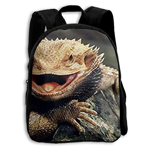 (Bearded Dragon Lizards Custom Personalized Toddler Backpacks Preschool Daybag Gift)