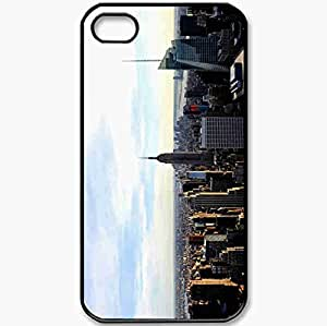 Protective Case Back Cover For iPhone 4 4S Case Photo Form Home America New York Black