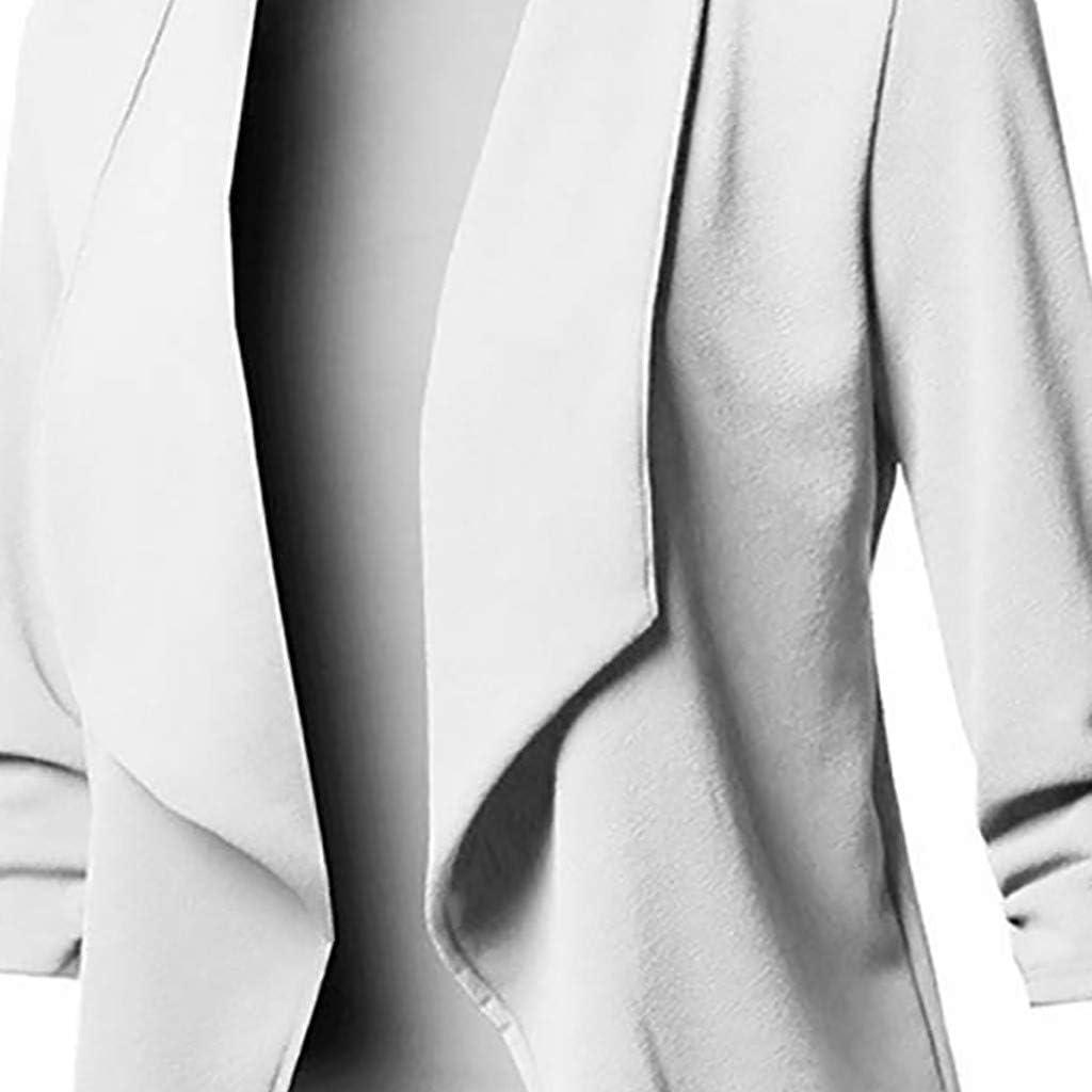 Xmiral Anzug Strickjacken Damen Einfarbig Umlegekragen Langarm Blazer B/üro Jacken Mantel