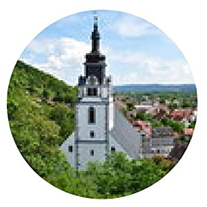 alfombrilla de ratón Iglesia de la ciudad de San Andrés en Rudolstadt / Thüringen - ronda - 20cm
