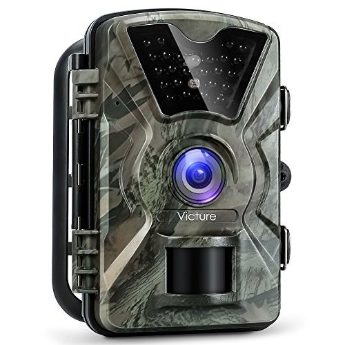 Victure Trail Game Camera 1080P 12MP Wildlife Camera Motion Activated Night  Vision 20m with 2 4