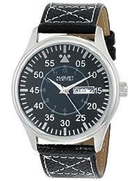 August Steiner Men's AS8074SS Analog Display Japanese Quartz Black Watch
