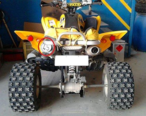 PLACA LIMITE 45 ATV QUAD Limite de velocidad Quad