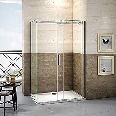 100x80x195cm Mamparas de ducha cabina de ducha 8mm vidrio templado ...