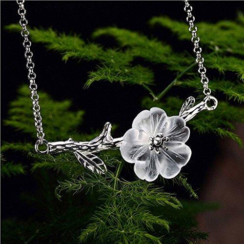 Fashion Cherry Blossom Flower Shell Vintage Camellia Pendant Sakura Necklace