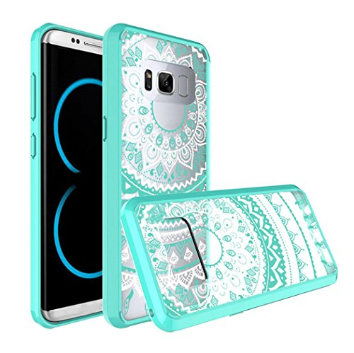 Price comparison product image For Galaxy S8 Plus Case, HP95(TM) Fashion Printed Retro Clear TPU Hybrid Bumper Case Cover For Samsung Galaxy S8+ 6.2inch (Mint Green)