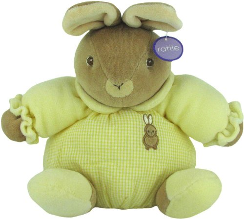 (Baby Bow Plush Stuffed Rattle Bunny in Yellow by Russ)