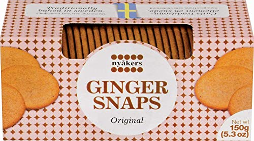 (Nyakers Swedish Ginger Snaps, Original Flavor, 150 grams)