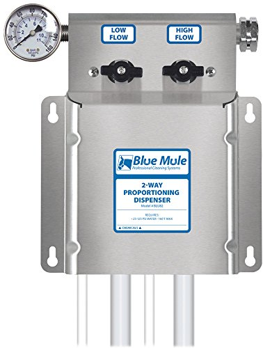 Blue Mule 2-Way Chemical Proportioning Dispenser by Blue Mule Professional Cleaning Systems