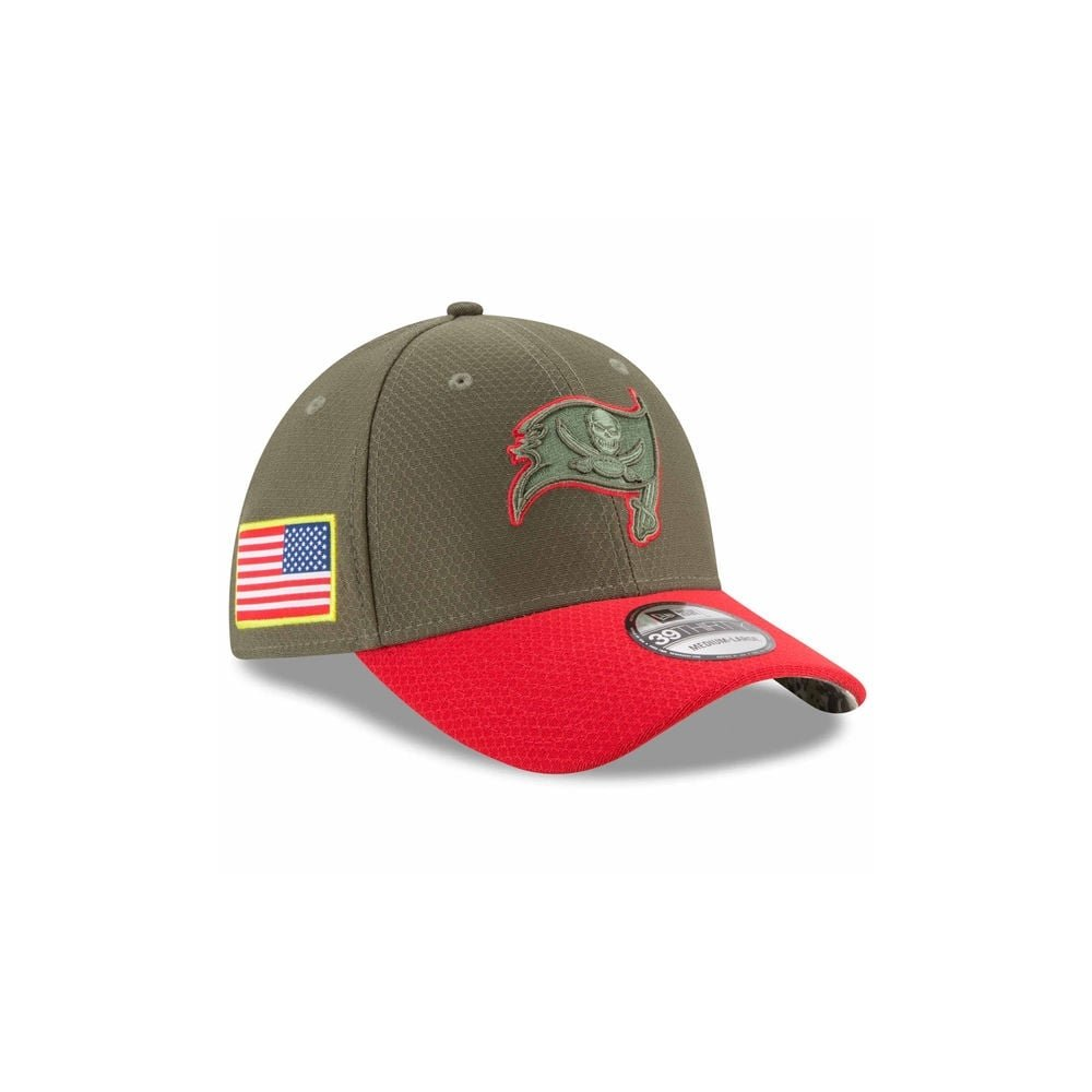 New Era New Era Tampa Bay Buccaneers Olive 2017 Salute To Service 39THIRTY Flex Hat スポーツ用品 【並行輸入品】 M_L.  B07FV2314V