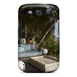Hot Fashion RhX3521LGAg Design Case Cover For Galaxy S3 Protective Case (cosy Beach Front Villa)