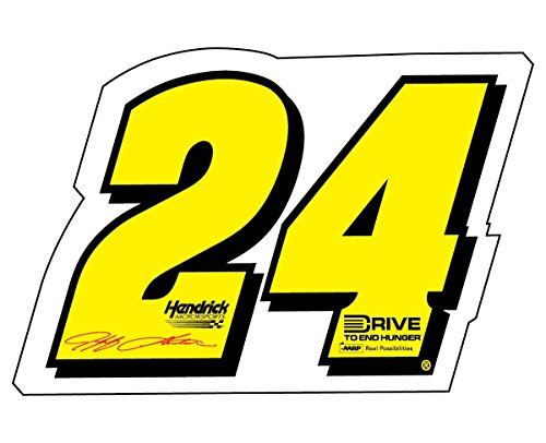 NASCAR #24 JEFF GORDON DECAL-JEFF GORDON STICKER-JUMBO 10