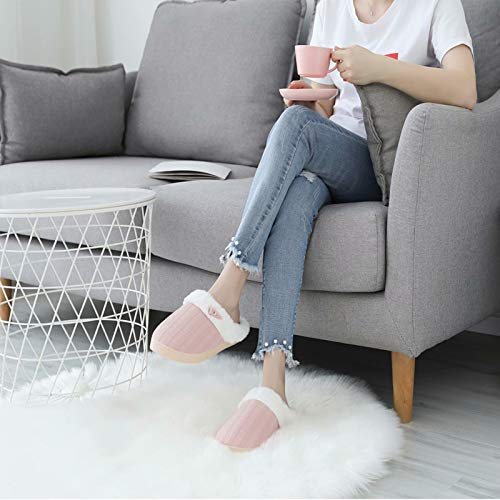 NineCiFun Women's Slip on Fuzzy Slippers Memory Foam House Slippers Outdoor Indoor Warm Plush Bedroom Shoes Scuff with…