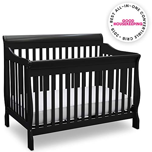 Delta Children Canton 4-in-1 Convertible Baby Crib, Black (About Missing Packages That Show As Delivered)